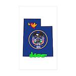 ILY Utah Sticker (Rectangle 50 pk)