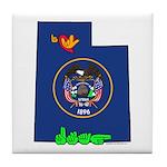 ILY Utah Tile Coaster