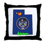 ILY Utah Throw Pillow