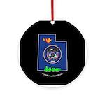 ILY Utah Ornament (Round)