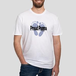 Proud Poppa (Boy) Fitted T-Shirt