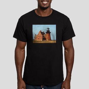 Block Island Lighthouse Appar Men's Fitted T-Shirt