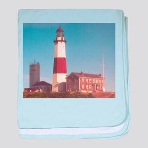Montauk Lighthouse baby blanket