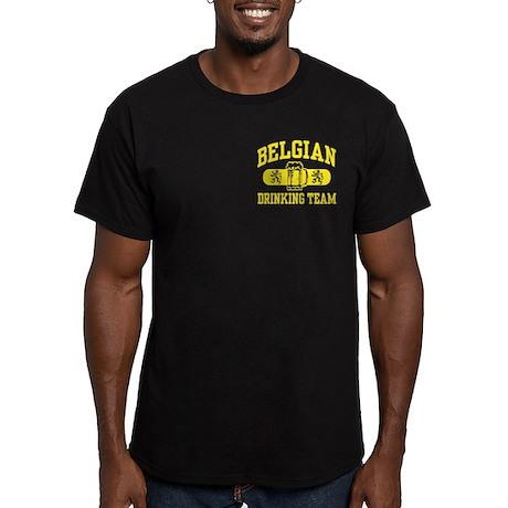 Belgian Drinking Team Men's Fitted T-Shirt (dark)