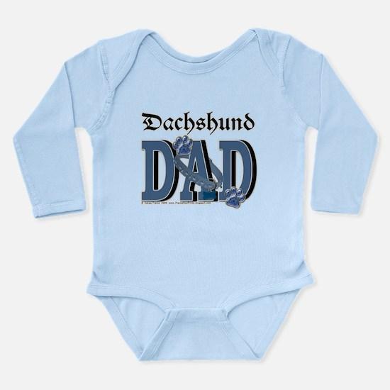 Dachshund DAD Long Sleeve Infant Bodysuit