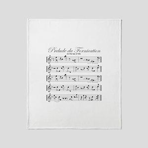 Prelude Du Fornication Throw Blanket