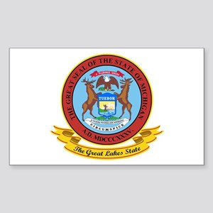 Michigan Seal Sticker (Rectangle)