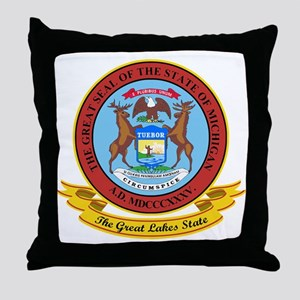 Michigan Seal Throw Pillow