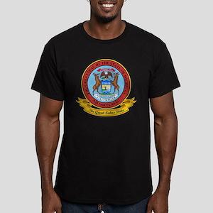 Michigan Seal Men's Fitted T-Shirt (dark)