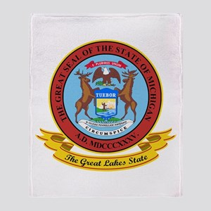 Michigan Seal Throw Blanket