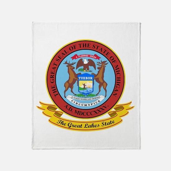 Michigan Seal Throw Blanket
