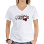 Rampage MMA Women's V-Neck T-Shirt