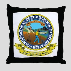 Minnesota Seal Throw Pillow