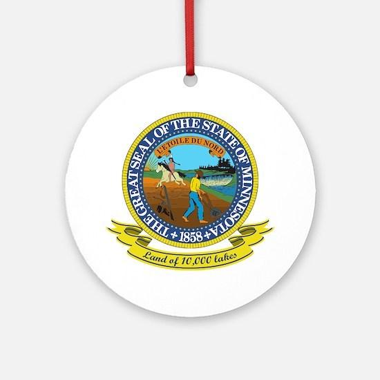 Minnesota Seal Ornament (Round)