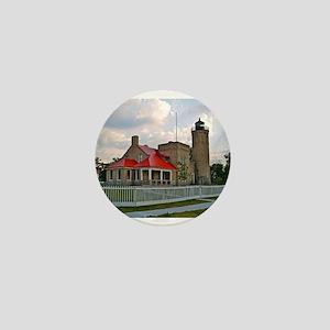 Mackinaw City Light house Mini Button
