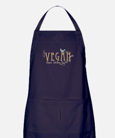 Vegan for life Apron (dark)