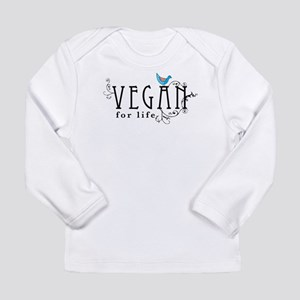 Vegan for life Long Sleeve Infant T-Shirt