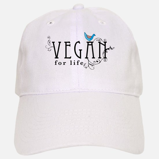 Vegan for life Baseball Baseball Cap