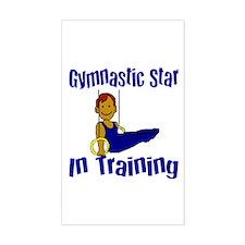 Gymnastic Star in Training Jacob Sticker (Rectangu