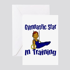 Gymnastic Star in Training Jacob Greeting Cards (P