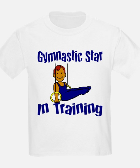 Gymnastic Star in Training Jacob Kids T-Shirt