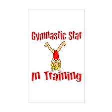 Gymnstic Star in Training Jacob Sticker (Rectangul