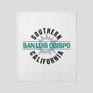 San Luis Obispo CA Throw Blanket