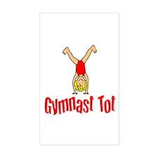 Gymnast Tot Isabella Rectangle Sticker