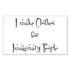 IMAGINARY PEOPLE Rectangle Decal