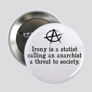 "Anarchist Irony 2.25"" Button"