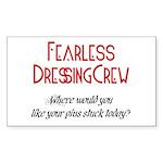 DRESSING CREW Rectangle Sticker