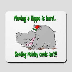 Send Hippo Xmas Cards Mousepad