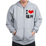 I love Fukui Zip Hoodie