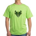 Green Scrolls Green T-Shirt