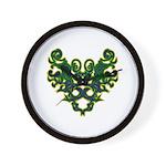 Green Scrolls Wall Clock