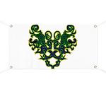 Green Scrolls Banner