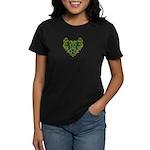 Green Scrolls Women's Dark T-Shirt