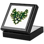 Green Scrolls Keepsake Box