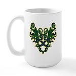 Green Scrolls Large Mug