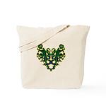 Green Scrolls Tote Bag