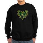 Green Scrolls Sweatshirt (dark)