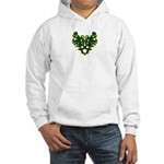 Green Scrolls Hooded Sweatshirt