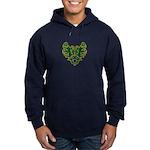 Green Scrolls Hoodie (dark)