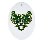 Green Scrolls Ornament (Oval)