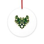 Green Scrolls Ornament (Round)