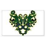 Green Scrolls Sticker (Rectangle 10 pk)