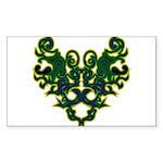 Green Scrolls Sticker (Rectangle 50 pk)