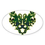 Green Scrolls Sticker (Oval)