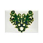 Green Scrolls Rectangle Magnet