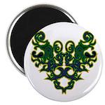 Green Scrolls Magnet